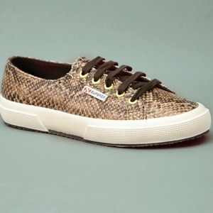 Anthropologie Superga Snake Sneakers